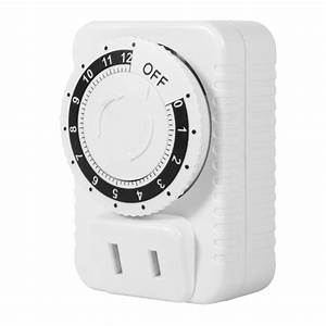 12 Hour Mechanical Electrical Timingplug Switch Save Energy Digital Countdown Timer Socket Timer