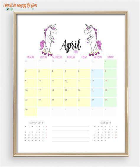 free floor planner i should be mopping the floor 2018 printable unicorn calendar