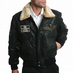 Blouson Cuir Aviateur Homme : arturo blouson aviateur noir en cuir noir brandalley ~ Dallasstarsshop.com Idées de Décoration
