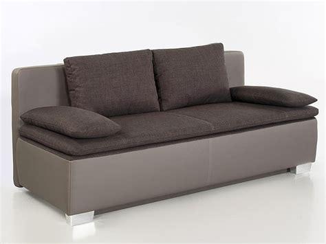 Schlafsofa, Couch Duana 202x96cm, Braun Elefant