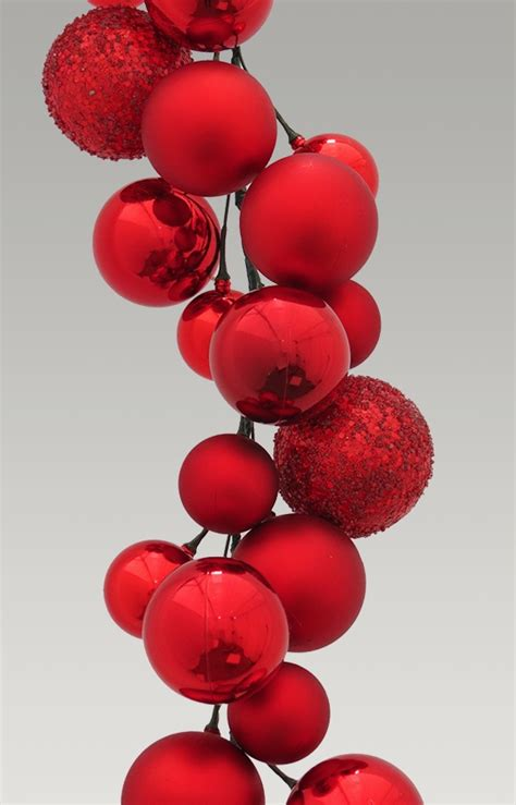 red ball garland  mixture  baubles shiny
