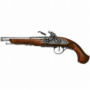 English Flintlock Pistol 18th Cent