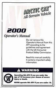 2000 Arctic Cat Atv Owners Manual