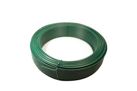 bobine de fil de tension plastifi 233 vert diam 232 tre 2 mm pour la pose de grillage photos