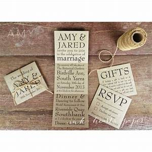 brown recycled kraft wedding invitations rustic vintage With recycled paper wedding invitations australia
