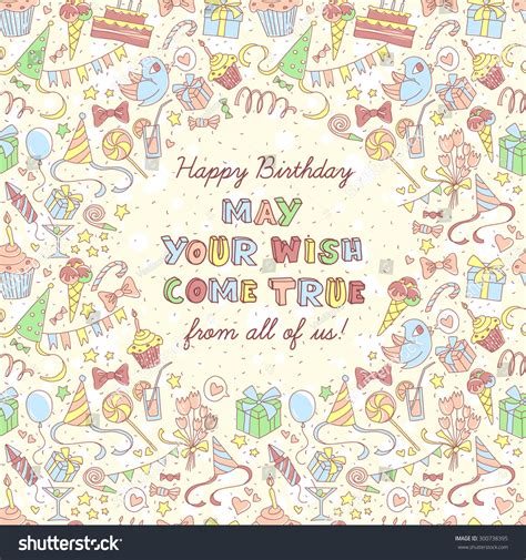 vector illustration happy birthday invitation stock
