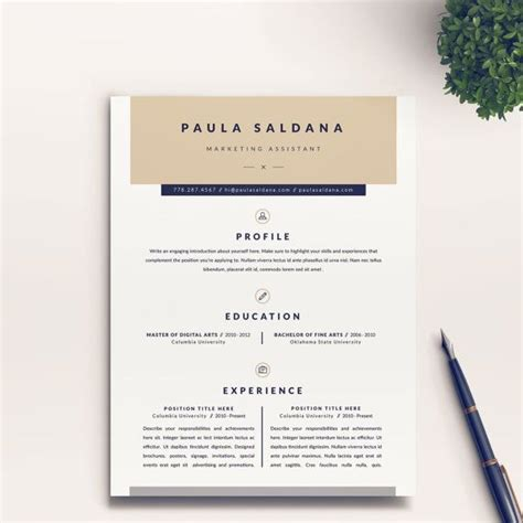 Digital Resumes For Educators by 1000 Ideas About Creative Cv Template On Cv