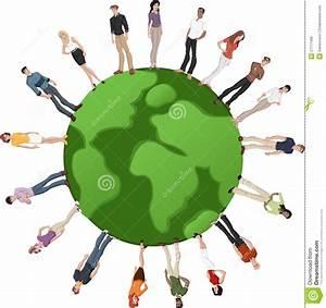 Globe Terrestre Carton : people over earth globe royalty free stock images image 27711499 ~ Teatrodelosmanantiales.com Idées de Décoration