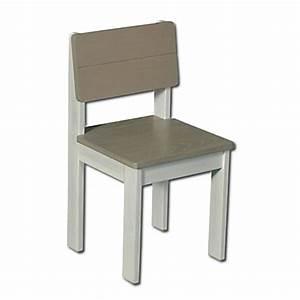 Chaise Blanche Et Grise : chaise enfant alin a chaise pour enfant en bois m tal ~ Teatrodelosmanantiales.com Idées de Décoration