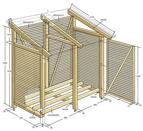 Come Costruire Una Tettoia by Costruire Una Legnaia Fai Da Te Da Esterno Con Tettoia