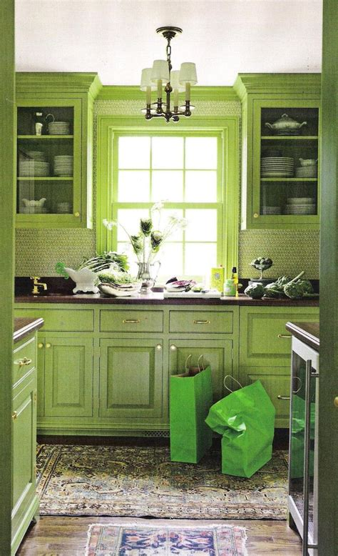 lime green kitchen ideas images  pinterest