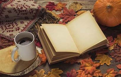 Coffee Autumn Books Leaves Wallpapers Colorful Winter