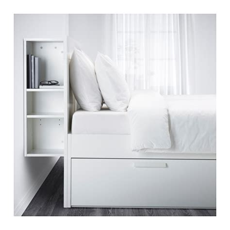 brimnes bed frame w storage and headboard white luröy
