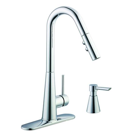 glacier bay kitchen faucets glacier bay 950 series single handle pull down sprayer kitchen faucet with soap dispenser in