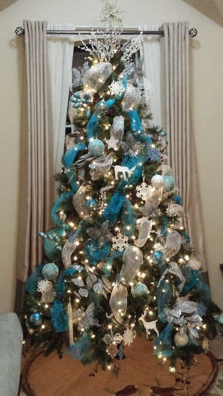 images  blue  silver christmas trees