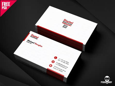 simple business card psd template  mohammed asif  dribbble