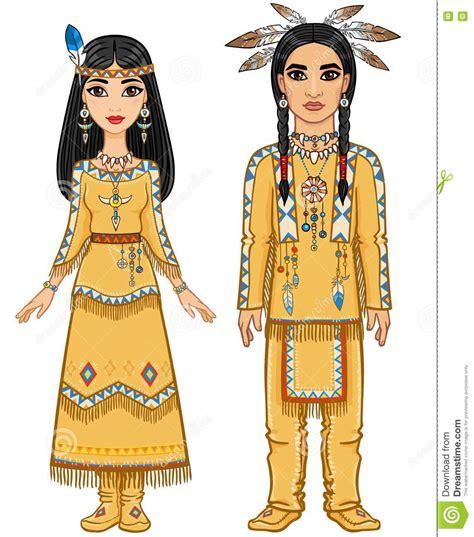Familia De La Animación En La Ropa De Los Indios