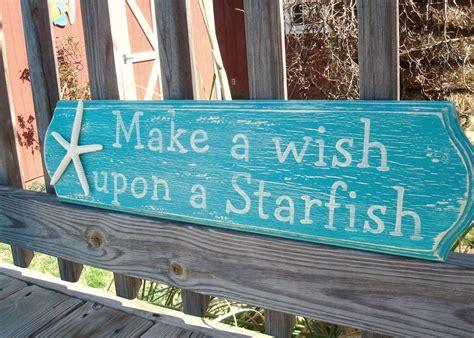 starfish handpainted sign coastal decor