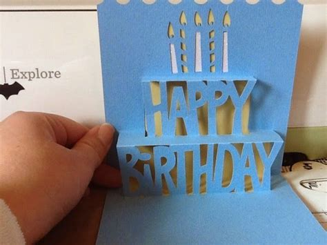 free birthday card template cricut 1000 images about cricut simple pop up cards on