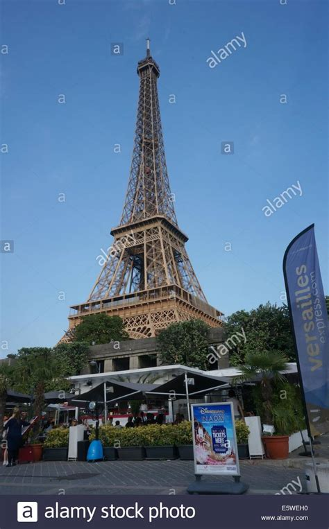 Eiffel Tower Background Cafe Terrace With Eiffel Tower In The Background And