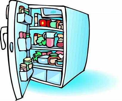Fridge Refrigerator Cartoon Clipart Clip Stage Open