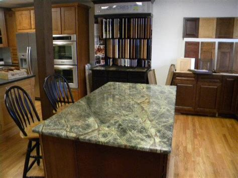 rainforest green granite countertops with deerfield