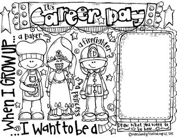 12343 college and career clipart black and white melonheadz career day coloring page freebie by