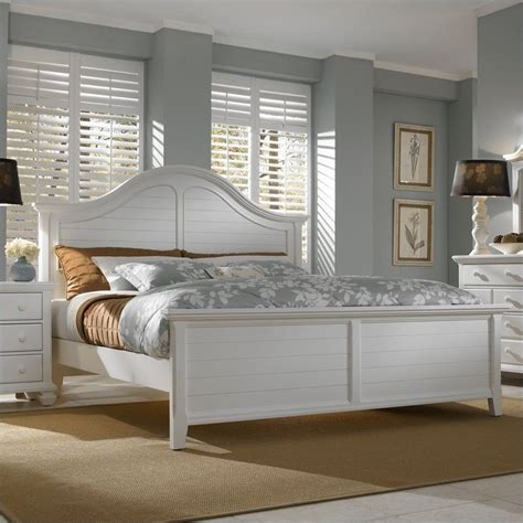 broyhill mirren harbor arched panel bed  white