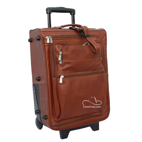 leather rolling suitcase mc luggage