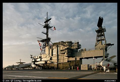 Flight Deck Island by Picture Photo Flight Deck And Island Uss Midway Aircraft
