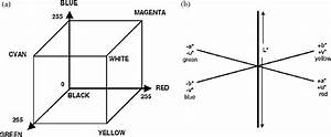 Rgb Model  A  And Cie L A B Color Space Model  A
