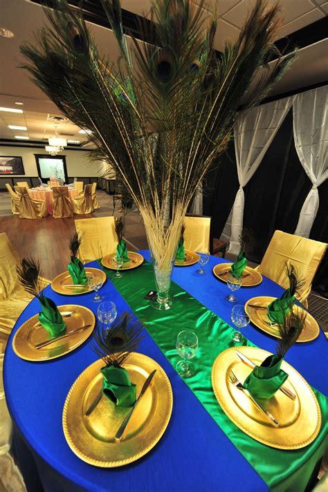Peacock Themed Table Decor Wedding Decor Pinterest