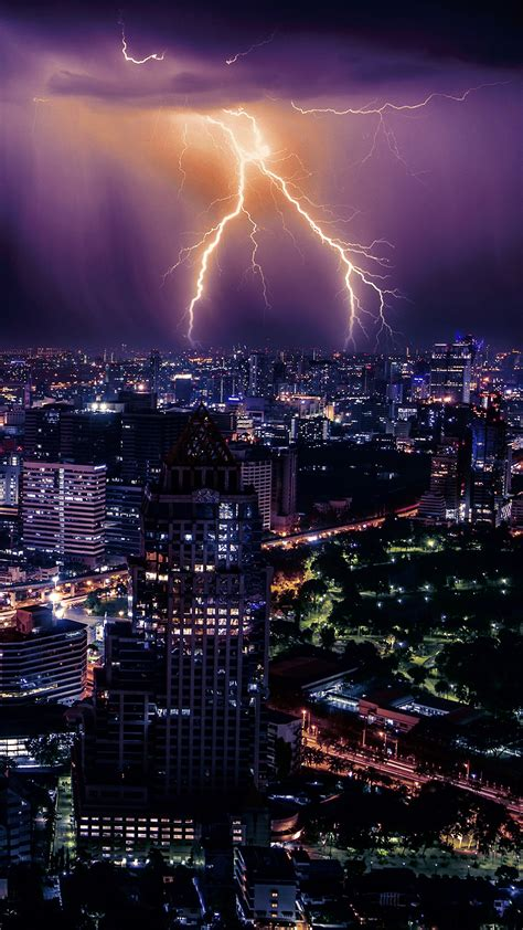 lightning storm hd wallpaper for your mobile phone