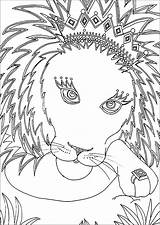 Lion Coloring Children Adult Printable Animals Justcolor sketch template