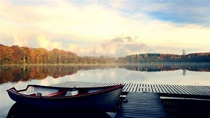 Dock River Nature Wallpapers Lake Boat Backgrounds