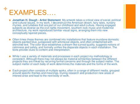 create  photography artist statement bio resume