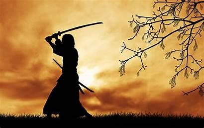 Samurai Silhouette Katana Wallpapers Backgrounds Desktop Cut