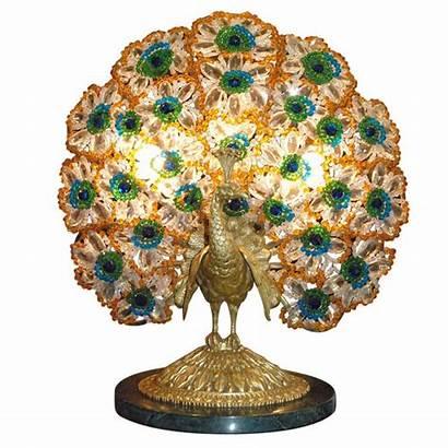 Peacock Nouveau Lamp Antique 1stdibs Lamps Table