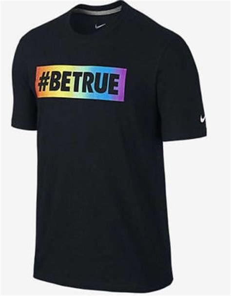 s nike be true tribal lgbt pride rainbow t shirt s m 809217 010 ebay