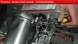 Broken Belt Switch - Gtds850es0ws Ge Dryer