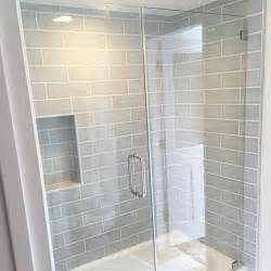 Glass Subway Tile Bathroom Ideas Best 25 Gray Shower Tile Ideas On Large Tile Shower Master Bathroom Shower And