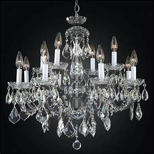 Iron and crystal chandelier old world glow