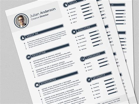the smart cv resume set template by daniel e
