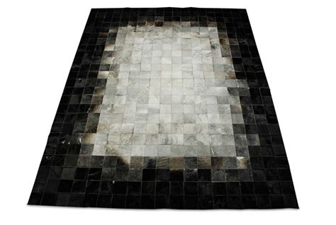 Cowhide Patchwork Rug Gray by Gradient Patchwork Cowhide Rug In Squares Shine Rugs