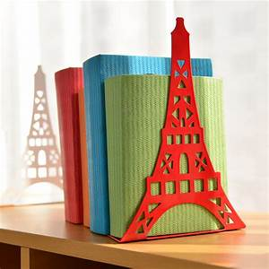 Bookend, Fashion, Eiffel, Tower, Design, Bookshelf, Large, Metal, Bookend, Desk, Holder, Stand, For, Books