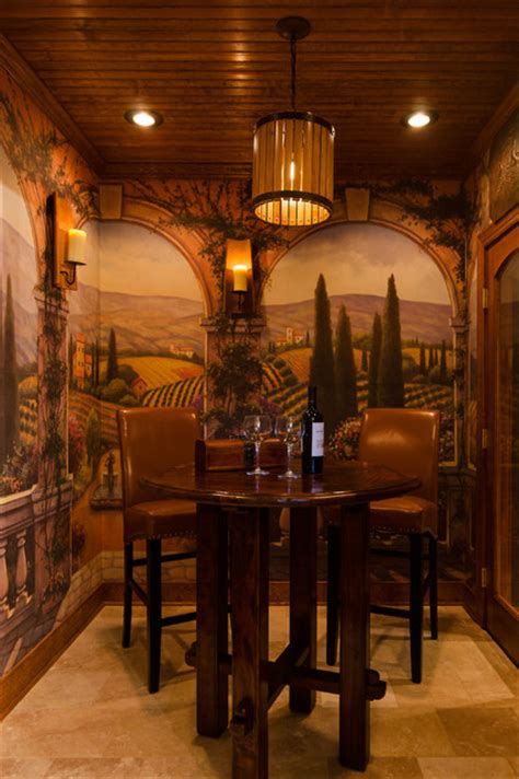 tuscan style tasting wine rooms traditional wine