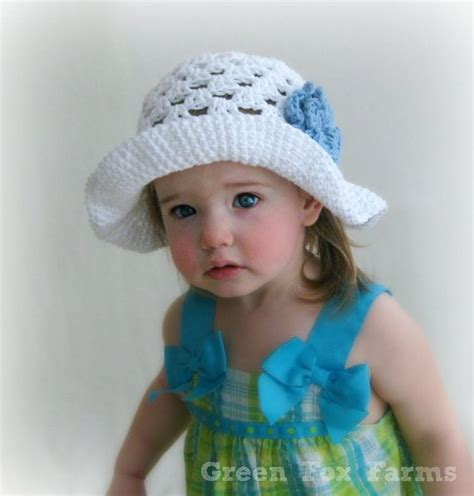 custom baby crochet easter bonnet infant sun hat