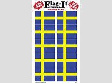 SVERIGE STICKER MED FLAGGA, STICKERS MED SVERIGE FLAGGOR