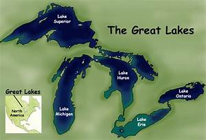 Pin Great Lakes Names And Locations On Pinterest