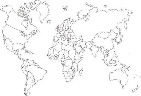 Carte Muette Monde à Imprimer by Printable Blank World Map Coloring Page Coloring Home
